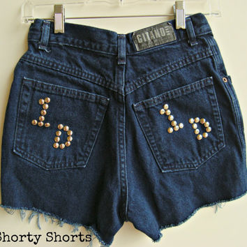 High Waisted Shorts One Direction Shorts Denim Jean Shorts One Direction Size 2-3