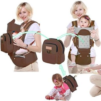 Toddler Backpack class Actionclub Baby Carrier Multifunction  Sling Kids HipSeat Newborns Kangaroo Hipseat With Diaper Bag Loading 20KG AT_50_3