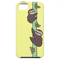 Three Toed Sloth iPhone 5 Cases from Zazzle.com