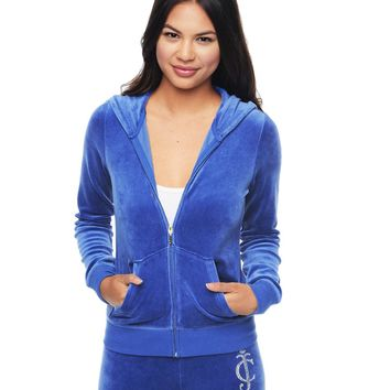 Logo Juicy Diamonds Velour Original Jacket by Juicy Couture