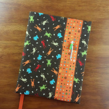 Jumping Frogs with Dots Composition Notebook Cover
