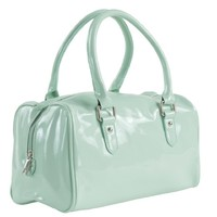 Women's Fashion Patent Vinyl Duffle Handbag Purse Mint, One Size