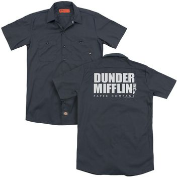 The Office - Dunder Mifflin (Back Print) Adult Work Shirt