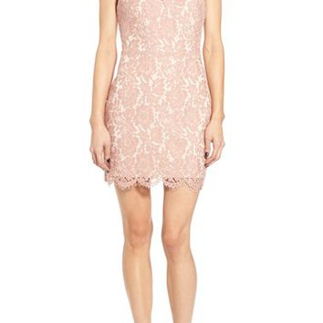ASTR Lace Open Back Minidress | Nordstrom