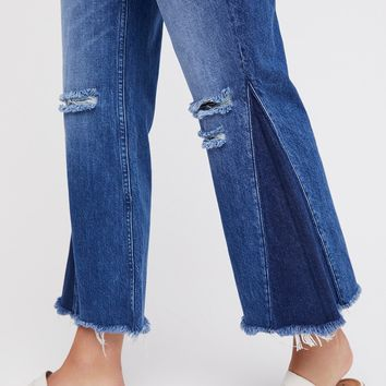 Free People Higher Ground Gusset Crop Jeans