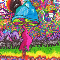 The Shroom Trippy Art Print - Stavale