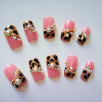Sexy Bling Japanese leopard gold pink kawaii by sweetieprincess