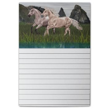 Buckskin and Palomino Horse Post-it® Notes