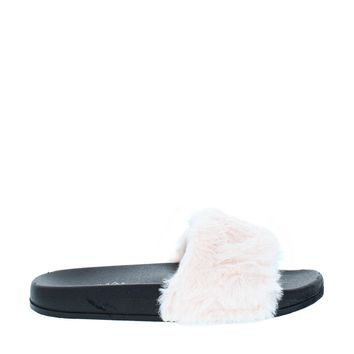 Fluffy Slipper Slide (PINK)