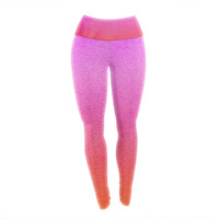 "Monika Strigel ""Fruit Punch"" Magenta Orange Yoga Leggings"