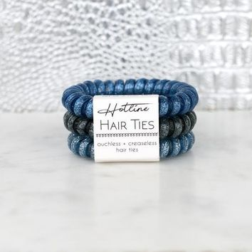 Hotline Hair Ties - Stormy Nights Glitter