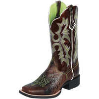 Women's Ariat Chocolate Chip Brown Patent Cowgirl Boots