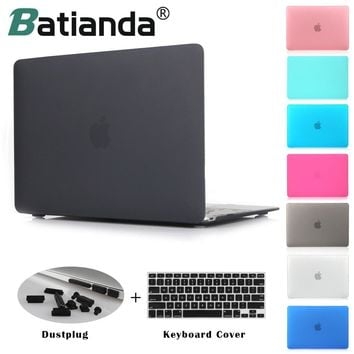 "Crystal Clear Matte Rubberized Hard Case Cover for Macbook Pro 13.3 15.4 New Pro Retina 12 13 15""Air 11 13 Laptop Shell"