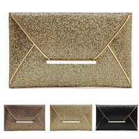 Fashion Women Evening Party Bags Glitter Sequins Clutch Envelope Handbag Wallet