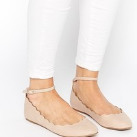 ASOS LEYTON Scallop Edge Ballets