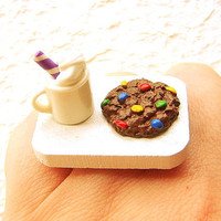 Food Ring Hot Chocolate Cookie Sprinkles by SouZouCreations