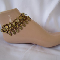 "Naga India Anklet ""Double Bead"" Anklet Brass"