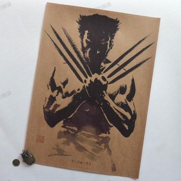 Vintage Style Retro Paper Poster Wall Bar House Art Decoration painting Wolverine Poster Vintage Decor 30X42 CM