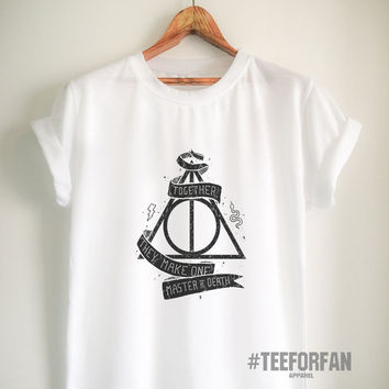 Harry Potter Shirts Harry Potter Merchandise Deathly Hallows T shirts Clothes Apparel Top Tee for Women Girls Men