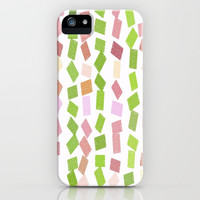 Cute Patch Art Pattern iPhone Case by kasseggs