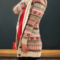 Off-White Knitted Long Sleeve Cardigan
