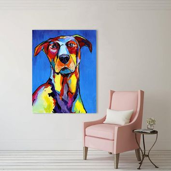 HDARTISAN Wall Art Picture Canvas Print Animal Dog Puppy Retriever Bulldog Chihuahua Oil Print For Living Room Home Decor