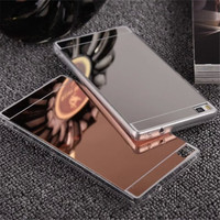 Fashion Gold Mirror Back Soft Case for Huawei P9 Lite P8 Lite iPhone 5s 6 7 Mobile Phone Cases Cover For Huawei P9 Lite Fundas