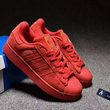 One-nice™ Adidas Superstar Casual Running Sport Shoes Sneakers Red I-CSXY