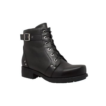 Women's Biker Boot Black - Footwear