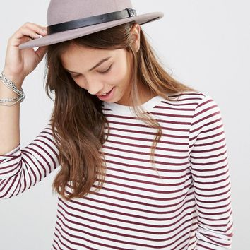 Brixton Fedora in Natural with Leather Band at asos.com