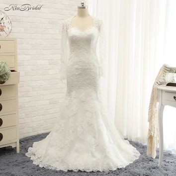 Robe de mariage New Design Long Wedding Dress 2017 O-Neck Cap Sleeve Court Train Beaded Lace Bridal Gowns