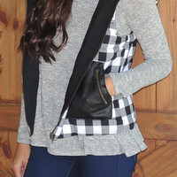 Perfect Plaid Vest - White