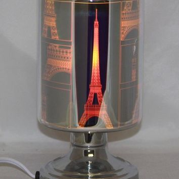 Paris Eiffel Tower Table Fragrance Aroma Lamp Oil Diffuser Wax Tart Candle Warmer Burner Home Decor Touch Lamp