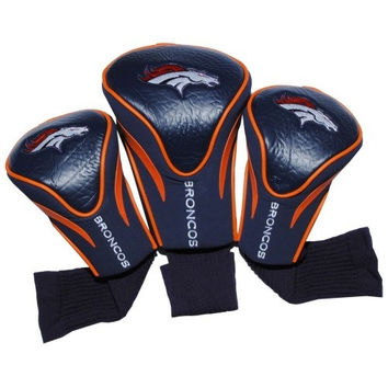 Denver Broncos 3 Pack Golf Contour Sock Headcovers