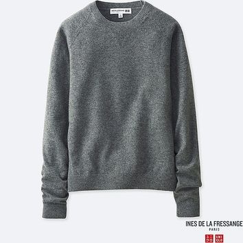 WOMEN INES CASHMERE CREW NECK SWEATER | UNIQLO UK