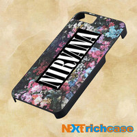 nirvana on floral art kurt cobain dave grohl For iPhone, iPod, iPad and Samsung Galaxy Case