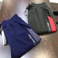 """""""Calvin Klein"""" Men Sport Casual Multicolor Letter Embroidery Thickened Sweatpants Leisure Pants Trousers"""