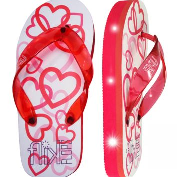 Hearts Light Up Flip Flops
