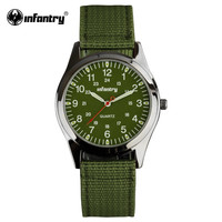 Green Fabric Watchband Sports Watches for Men