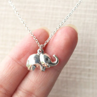Sterling Silver Elephant Necklace, Sterling Silver Elephant Necklace, Elephant necklace, Baby elephant Necklace, Elephant Jewellery