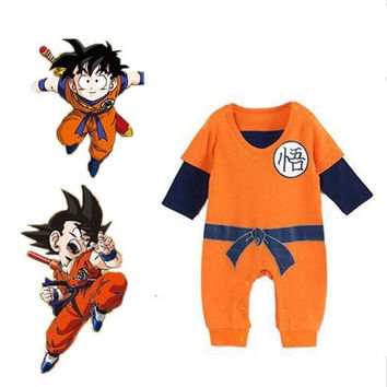 Dragon Ball Goku Baby Costume Newborn Infant Boy Clothes Romper Bodysuit Outfits [8270459137]