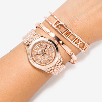 Glitter Numeral Cuff Watch Set