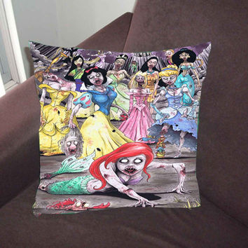 Disney Princess Zombie - Pillow Case, Pillow Cover, Custom Pillow Case *02*