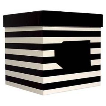 Spritz XXL Gift Box Black and White Stripe : Target
