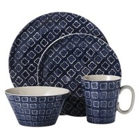 Threshold™ Round 16 Piece Dinnerware Set - Blue/White