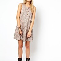 ASOS Sleeveless Smock Dress In Stargazer at asos.com