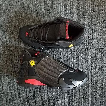 Nike Air Jordan 14 Black Red Men Women Basketball Shoes Sneaker