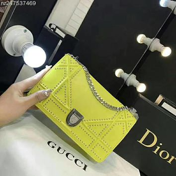 Dior Women Fashion Leather Shoulder Bag Crossbody