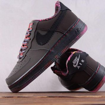 hcxx N017 Nike Air Force 1 Low Premium BHM Breathable Running Shoes Maroon Red