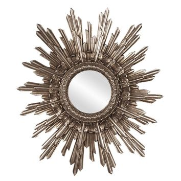 Chelsea Antique Silver Starburst Mirror